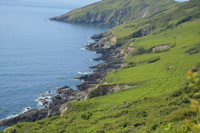 Coastline east of Rames Head