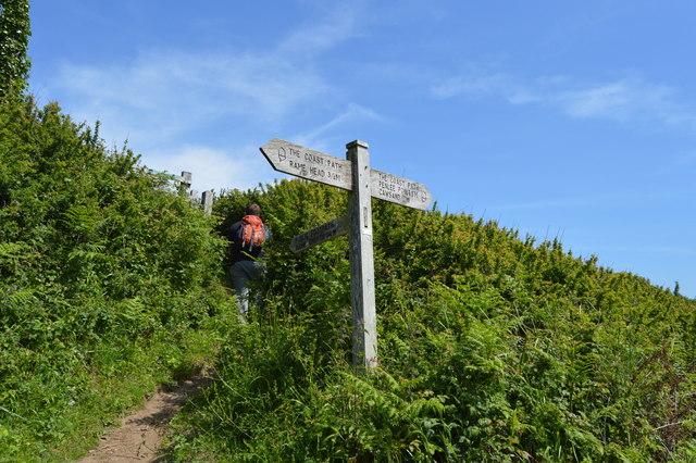 South West Coast Path signpost