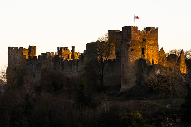 Ludlow Castle at sunrise