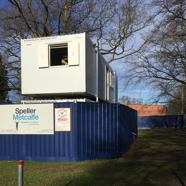 Contractor's compound, St Nicholas Park, Warwick