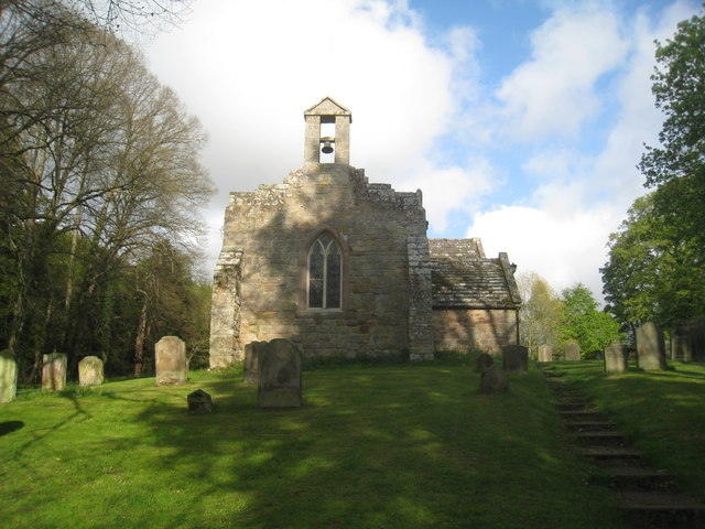 St, Peter's church, Chilingham from the west