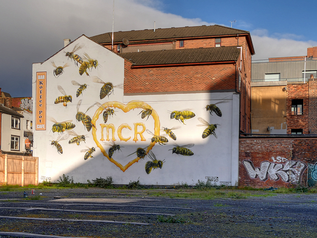 Manchester Bees Mural
