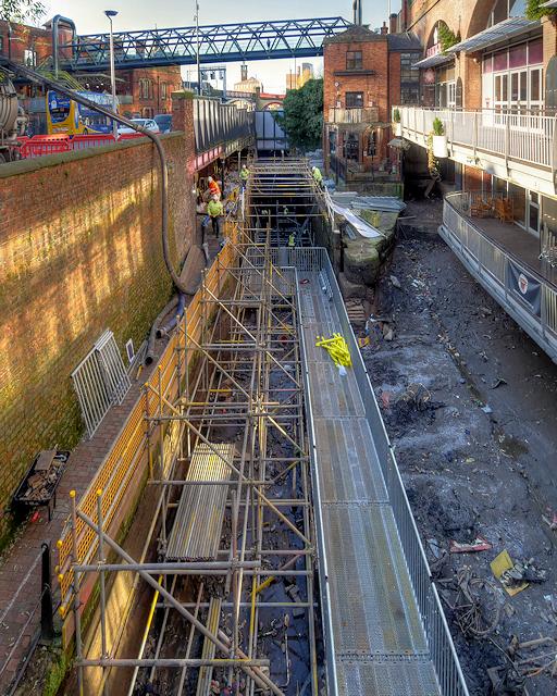 Restoration Work at Deansgate Locks