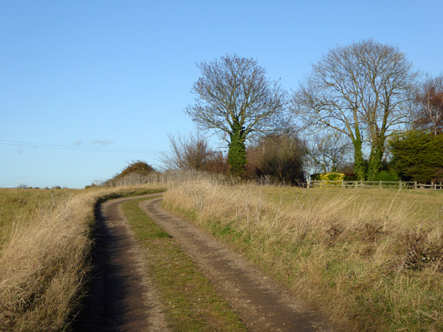 Track and public footpath, East Mersea
