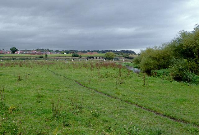 Flood plain north of Baswich in Stafford