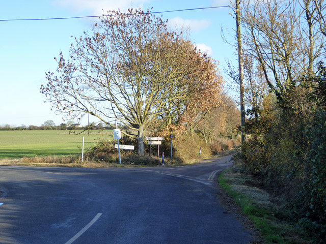 Junction of East Road and Broman's Lane, East Mersea