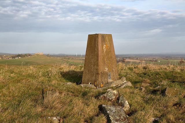 The triangulation pillar on Sweethope Hill