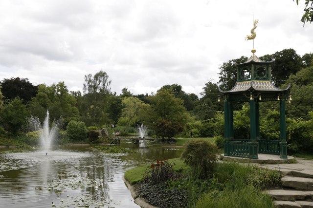 Pavilion in the water garden