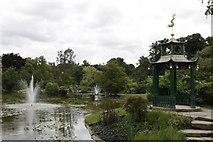 SU9185 : Pavilion in the water garden by Bill Nicholls