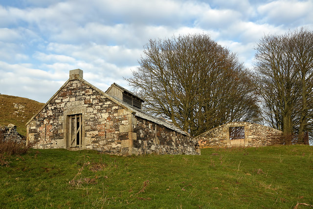 Old farm buildings at Sweethope Hill