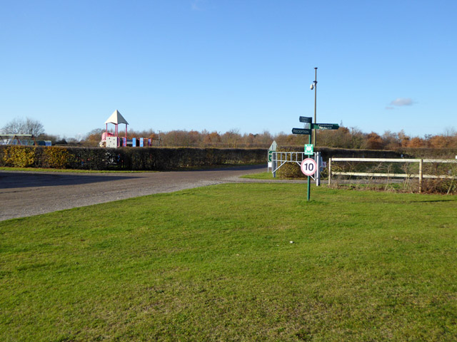 Signpost at Fen Farm caravan and camping site