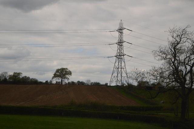 Pylon by Solar Farm
