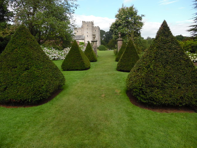 The Cone Tree Garden at Sizergh Castle