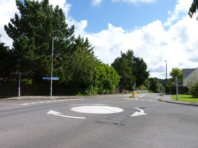 Mini-roundabout on the edge of Barnstaple