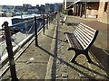SO8218 : Seat overlooking the Basin, Gloucester Docks by Philip Halling