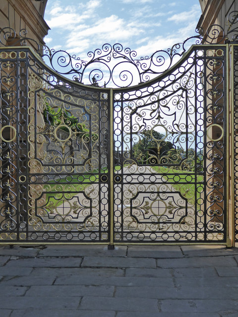 Chatsworth House - ornate gate