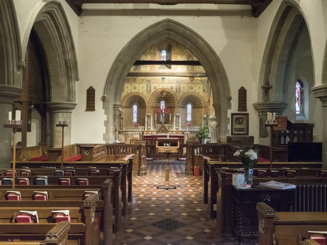St Mary the Blessed Virgin, Addington - East end