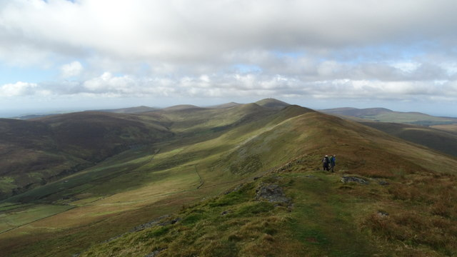 View SW along North Barrule ridge towards Snaefell