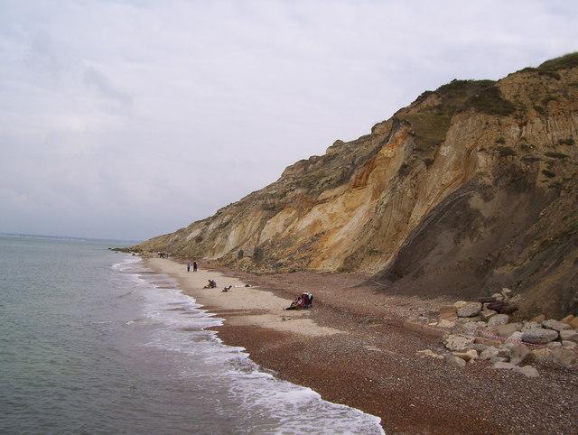 Beach at Alum Bay