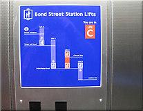 TQ2881 : Lifts diagram, Bond Street station step-free access by David Hawgood
