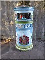 SO8319 : A painted waste bin by Philip Halling
