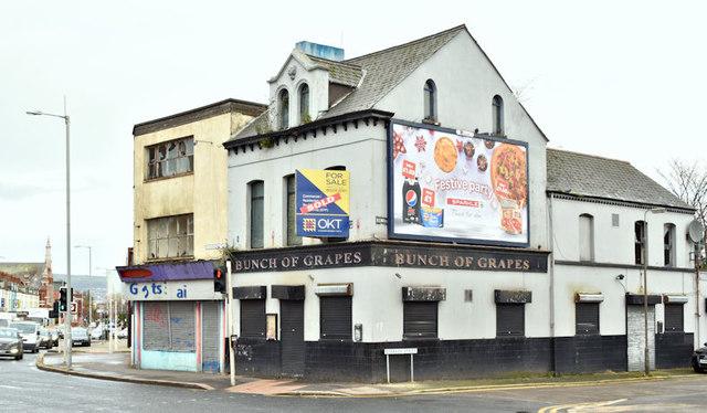 """Former """"Bunch of Grapes"""", Belfast (Decemeber 2017)"""