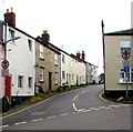 ST1600 : No motor vehicles signs, Queen Street, Honiton by Jaggery