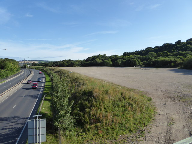 Cleared land and the A61 - Chesterfield
