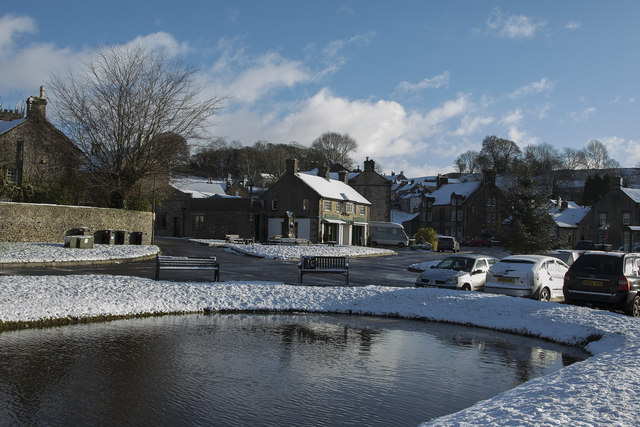 Hartington in the snow