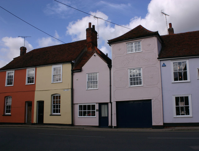 More houses in West Street, Coggeshall by David Kemp