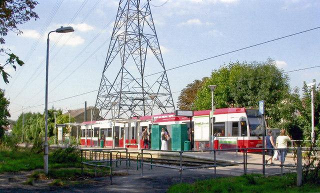 Phipps Bridge tram-stop, 2005