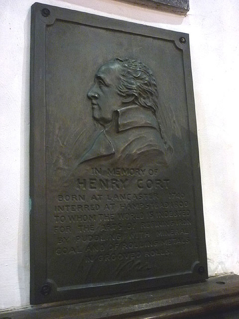 Memorial plaque to Henry Cort, Lancaster Priory