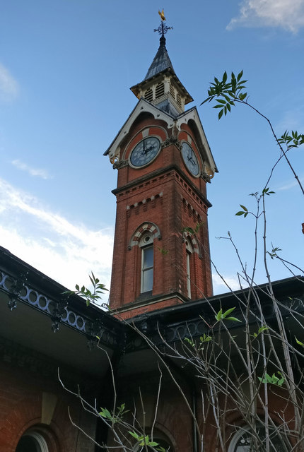 Clock tower at the Counting House pub