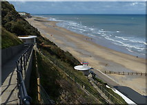 TG2142 : The beach and cliffs at Cromer by Mat Fascione