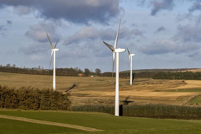 Turbines at Quixwood Moor Windfarm