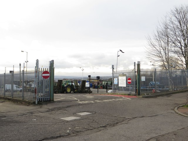 Council depot gate, Newcastle upon Tyne