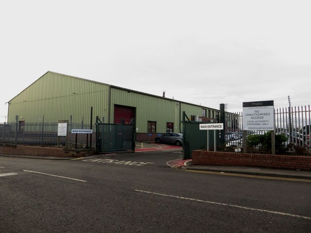 Council depot entrance, Condercum Road, Newcastle upon Tyne