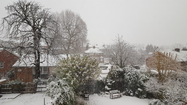 Snow in London N14