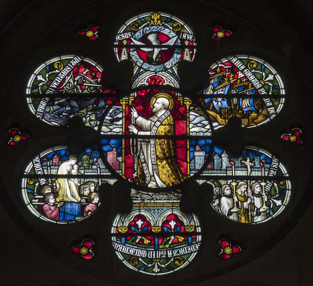 St Dominic's Priory Church, Belsize Park - Stained glass window