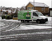 ST3090 : Asda home delivery in the snow, Laurel Crescent, Malpas, Newport by Jaggery