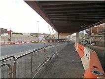 SJ8298 : Ordsall Chord crossing Trinity Way by Gerald England