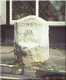 SU9877 : Old Milestone by the B470 in Datchet by A Rosevear