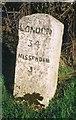 SP8705 : Old Milestone by A Rosevear & J Higgins