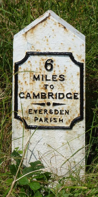Old Milepost by the A603, near Butler's Spinney