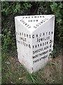 SJ4158 : Old Milepost by JV Nicholls & C Minto