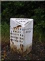SJ3861 : Old Milepost by JV Nicholls & A Rosevear
