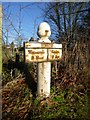SJ8773 : Old Milepost by J Higgins