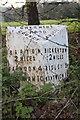 SJ4854 : Old Milepost by JV Nicholls & C Minto