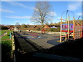SO3828 : Children's play area, Ewyas Harold by Jaggery