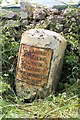 NY1334 : Old Milestone  by the A595, north east of Williamsgate by C Minto